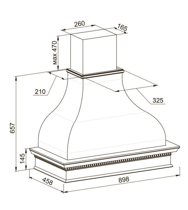 Кухонная вытяжка Анастасия 90 ППУ схема