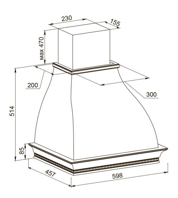 Кухонная вытяжка Беатриче 60 I/P/S/U ППУ схема