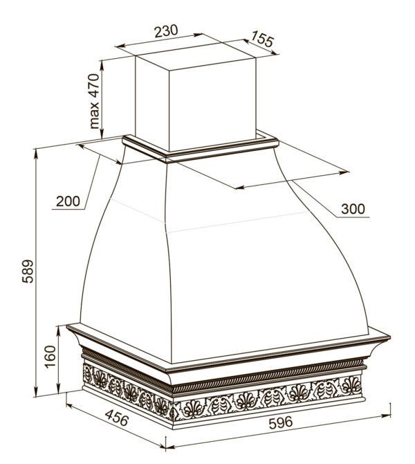 Кухонная вытяжка Белла 60 ППУ схема