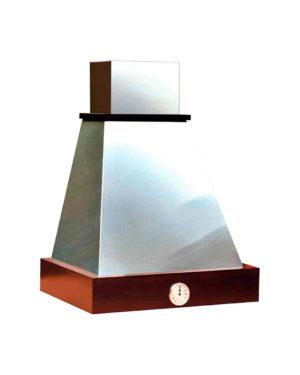 Британика 60 с часами(часы серебро) купол нержавеющая сталь