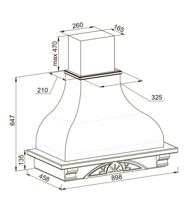 Кухонная вытяжка Дольче вита 90 ППУ схема