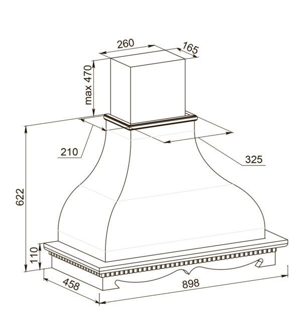Кухонная вытяжка Изабелла 90 ППУ схема